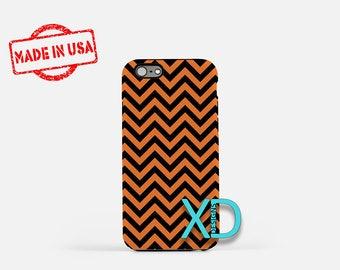 Chevron Phone Case, Chevron iPhone Case, Halloween iPhone 7 Case, Orange and Black, Halloween iPhone 6 Case, Chevron Tough Case, Clear Case