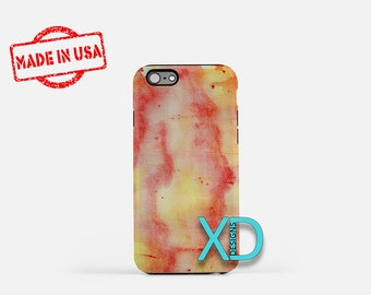 Orange Watercolor iPhone Case, Red iPhone Case, Orange iPhone 8 Case, Paintng iPhone 6s Case, iPhone 7 Case, Phone Case, Safe Case, SE Case