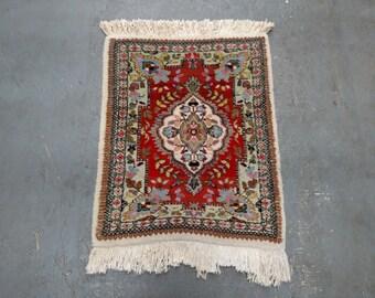 1970s Retro, Hand-Knotted, Retro Tabriz Tabatabaie, Persian Rug (2800)
