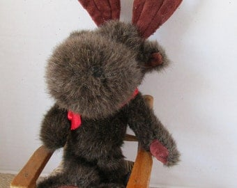 Boyds Stuffed Moose 1985-93 Furry 14 Inch Furry Brown