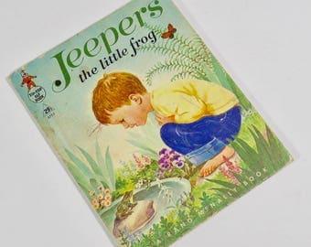 Jeepers the Little Frog Vintage 1965 Children's Book, 1960s Elf Book Tip Top Elf Book 60s Kids Books 1960s Children's Book