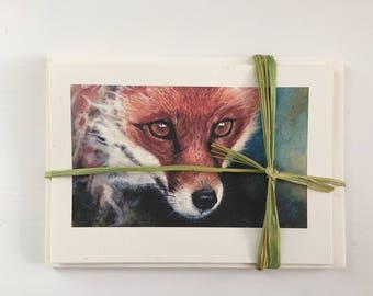 Fox notelets-set of five matching