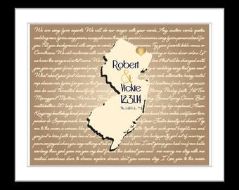 Anniversary gift for him custom Any state map song lyric map engagement present for couple personalized wedding art minnesota wall art