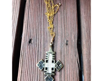 Gold washed cross