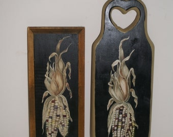 Hand painted wood plaques for Kitchen or Dining Area