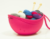 Project caddy, yarn bowl and project bag