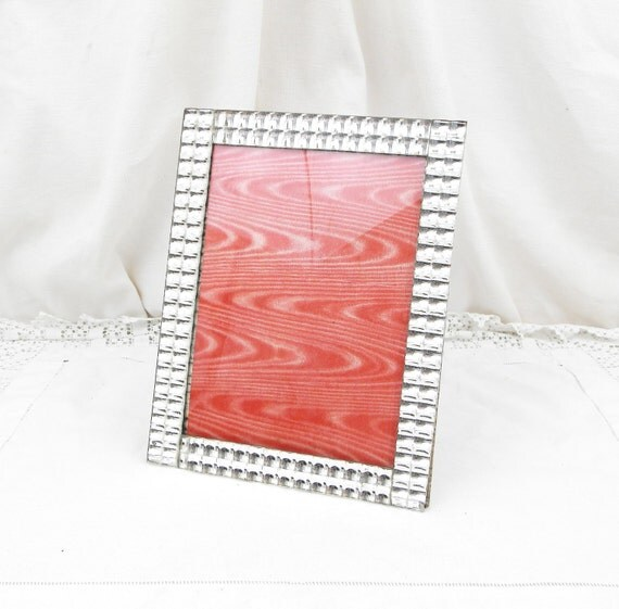 Antique French Textured Glass Mirrored Picture / Portrait Frame, French Decor, Chateau, Shabby, Chic, Brocante, France, Mirror, Retro, Home