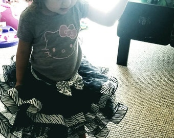 Zebra Tutu skirt