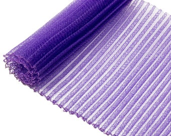 "1 Yard x 6"" Purple Pleated Crinoline Millinery Horsehair Crin - 13 Colors Available"