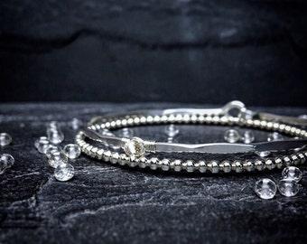 Crystal Quartz Bangle / Dainty Gold Bangle / 14k Gold Bracelet / Diamond Alternative / April Birthstone / AAA Clear Quartz Bracelet