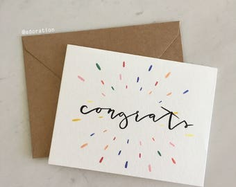 Confetti Congrats Card/ Celebrate, Colorful Every Occasion Cards / Card Set