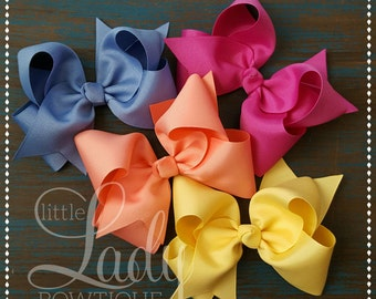 Hair-bows made to match Matilda Jane-The Adventure begins-choose your size hair-bow-3,4,5,6,or 7 inch bow-hair bows for girls-baby bows-girl
