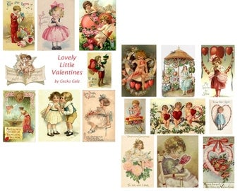 Lovely Little Valentines Digital Collage Set