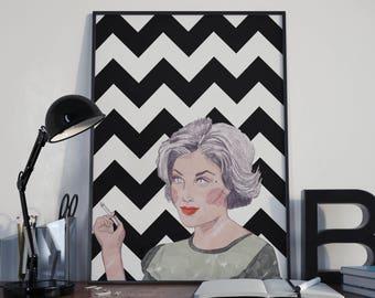 Audrey Horne Twin Peaks Print