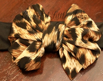 Cheetah Bow Headwrap