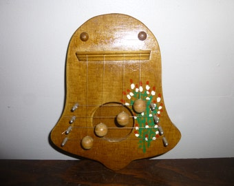 Delightful Door Chime - 4 note wood form in shape of bell - classic form and tones for home or office doors