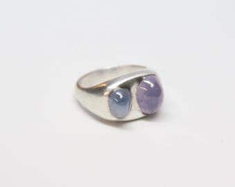 Art Deco Sterling Silver and Star Sapphire Ring - Outstanding Design and Craftspersonship