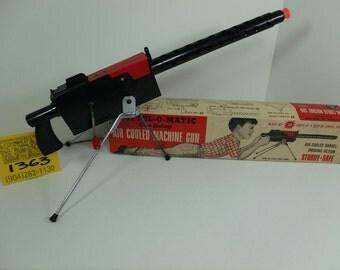 1950's Mattel-O Matic Air-Cooled Toy Machine Gun w/ Box