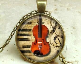 Viola necklace, viola pendant, viola jewelry, music pendant, music necklace, music, band, orchestra, instrument, Pendant#HG161BR