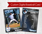 Custom Digital Baseball Card - TEAM LISTING (up to 14 players)