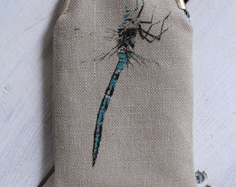 Handmade Dragonfly Glasses Case