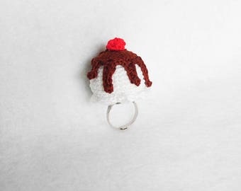 Extra Large Scoop Crochet Ring