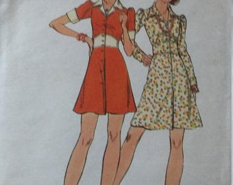 UNCUT and FF Pattern Pieces Vintage Butterick 3251 Sewing Pattern Size 10 Sewing Pattern One-Piece Dress