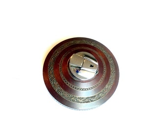 Vintage Ronson wooden table lighter carved inlay dining accessories wooden treen Art Deco decor England