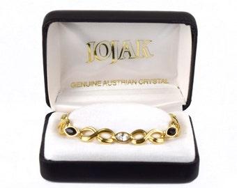 "Vintage JoJak Genuine Austrian Crystal Bracelet 7"" in Original Box"