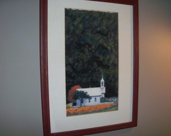 Large Framed Wall Art vintage mountain wall art   etsy