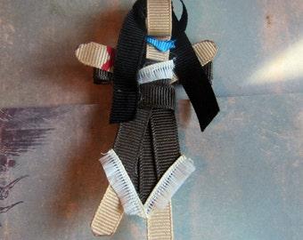 Princess Ribbon sculpture Pocahontas Alligator Clip