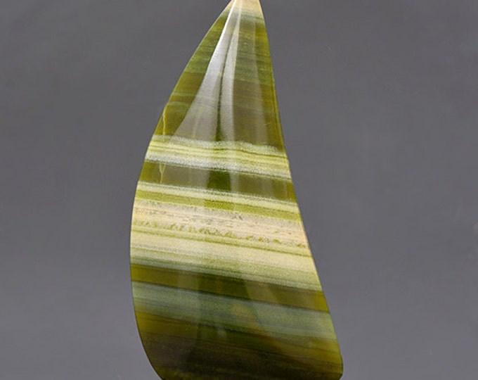 SALE EVENT! Lovely Green Banded Ricolite Cabochon from New Mexico 38.18 cts.