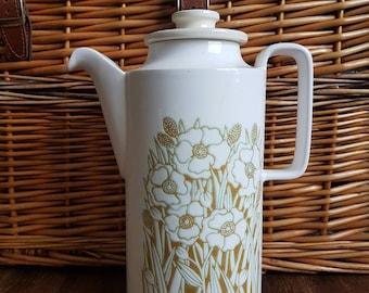 Tall Hornsea Fleur Coffee Pot 1970's Vintage