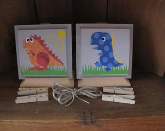 Child Art Work hanger Dinosaurs
