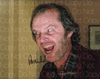 The Shining signed 2 Jack Nicholson Here's Johnny Red Rum 8X10 photo picture signed autograph RP