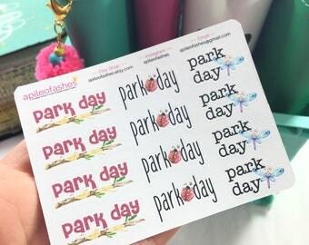 Park Day Sampler Stickers, War Binder Stickers, Bible Stickers, Planner Stickers, Tab Stickers, Prayer Journal