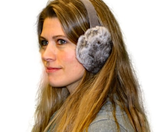 Glacier Wear Chinchilla Rex Rabbit Fur Ear Muffs