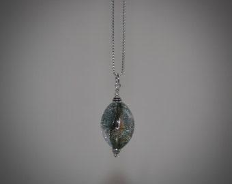 Dichroic Glass Oval Pendant