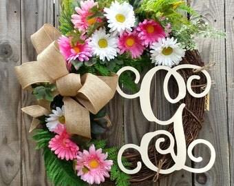 Grapevine Wreath for Door,Front Door Wreath,Spring Wreath,Mother's Day Gift,Wreath for Door,Front Door Decor, Hydrangea Wreath,Summer Wreath