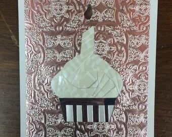 Iris Folded Cupcake Card