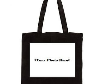 Black Custom Photo Tote