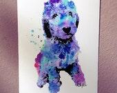 Doodle || Branson the Doodle || Labradoodle || Goldendoodle || Dog Art || Watercolor Dog Art || Dog Print