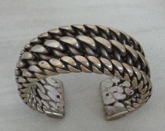 Vintage Handmade Silver Bracelet