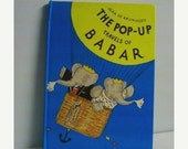 CLEARANCE The Pop-Up Travels of Babar, Vintage Children's Book, Jean de Brunhoff, Pop-Up Book, Babar the Elephant