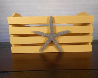 Wooden beach crate / beach decor / nautical decor
