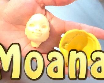 Moana Face Silicone Mold