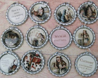 Alice In Wonderland Wine Glass Tags (Set of 12) C685