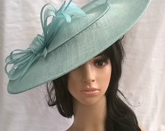 Aqua Hatinator..Stunning  Sinamay Fascinator Hat on a Headband..Hatinator