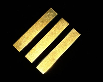 """Brass 18G Bracelet Stamping Blank - 6"""" x 3/8"""" - 18 Gauge Stamping Blank with Squared Ends - 1 ..."""