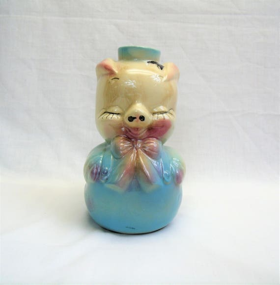 Items Similar To 1940s Leeds Pig Decanter Vintage Pottery